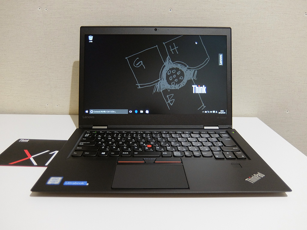 ThinkPad X1 Carbon 2016、正面から本体画像