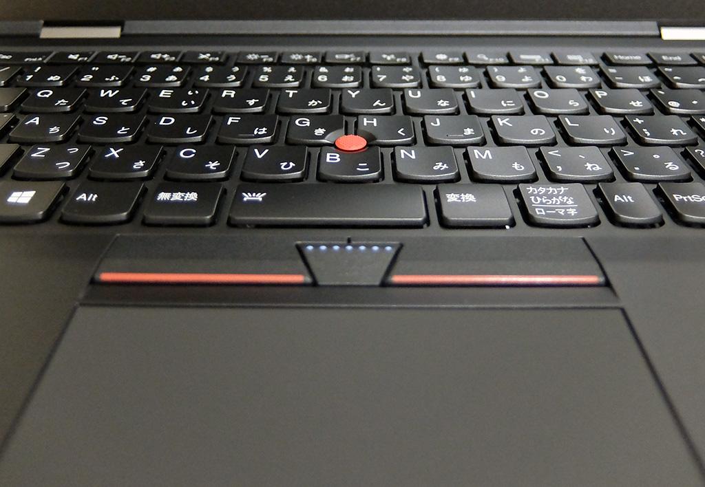 ThinkPad X1 Carbon、2016年モデルキーボード部分画像